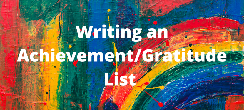 Writing an Achievement/Gratitude List